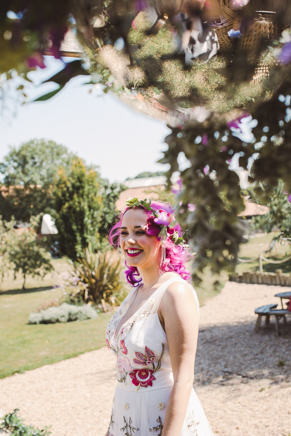 Bright and Colourful Rock Festival Wedding At Jimmy's Farm, SuffolkBright and Colourful Rock Festival Wedding At Jimmy's Farm, Suffolk