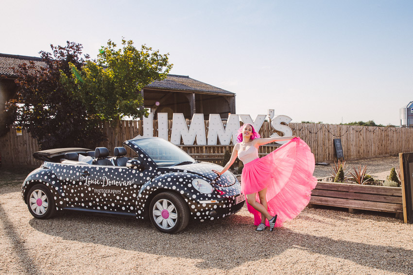 Bright and Colourful Rock Festival Wedding At Jimmy's Farm, Suffolk
