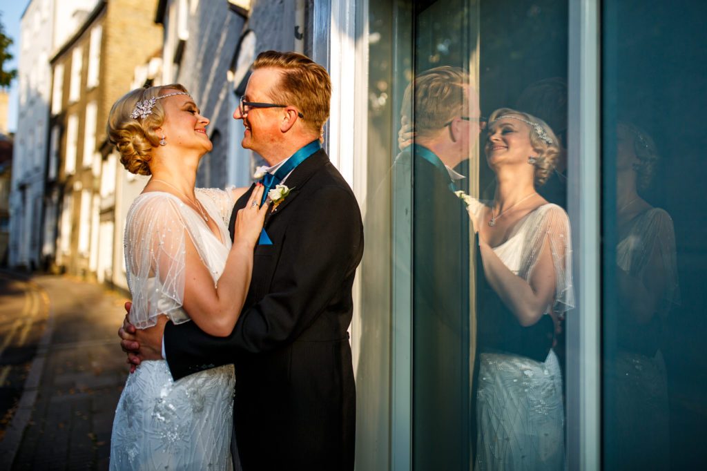 Intimate Micro Wedding At Cambridge Register Office With 1920s Inspired Wedding Dress