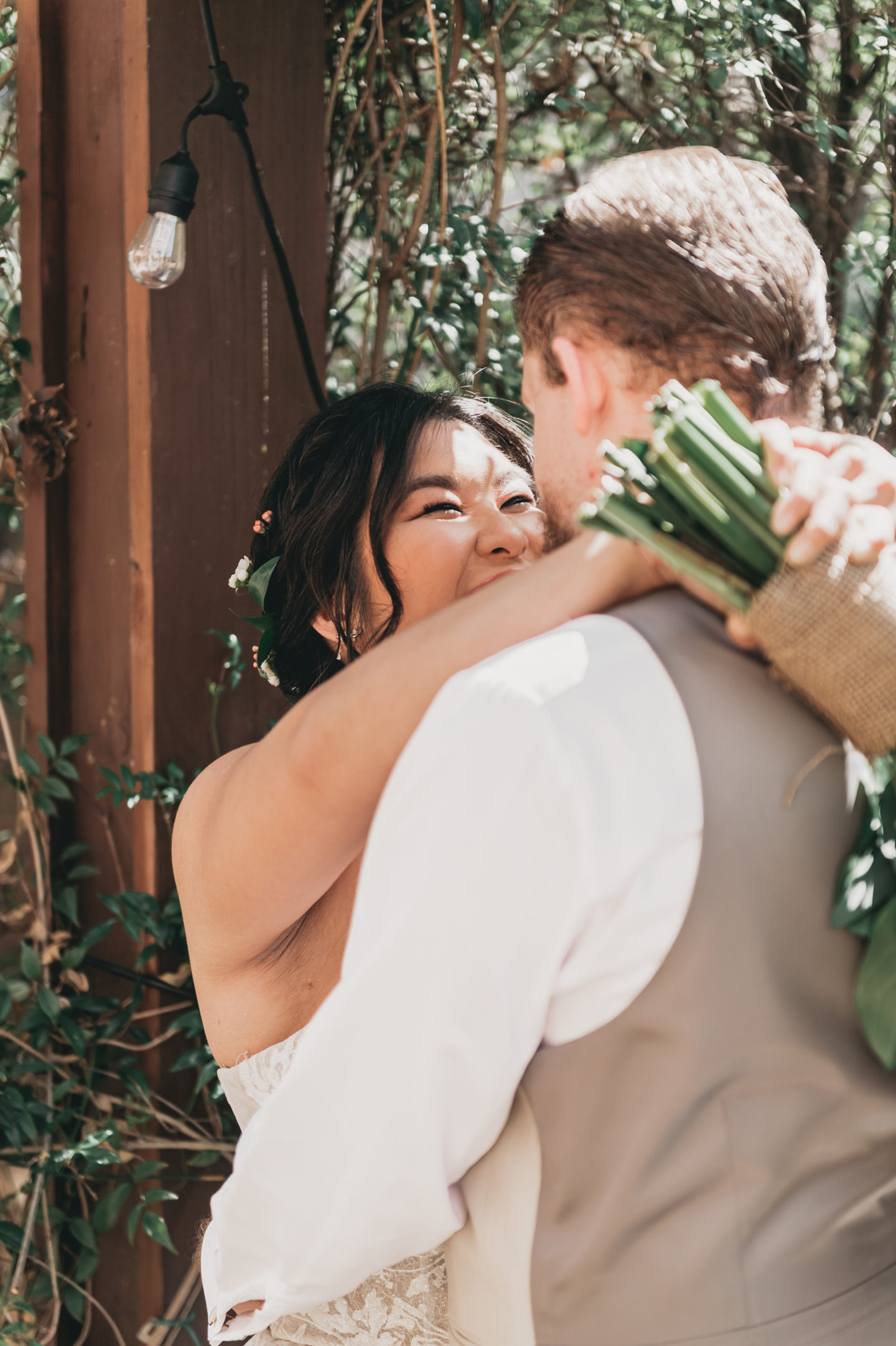Green and Gold Boho Garden Wedding in Irvine, California