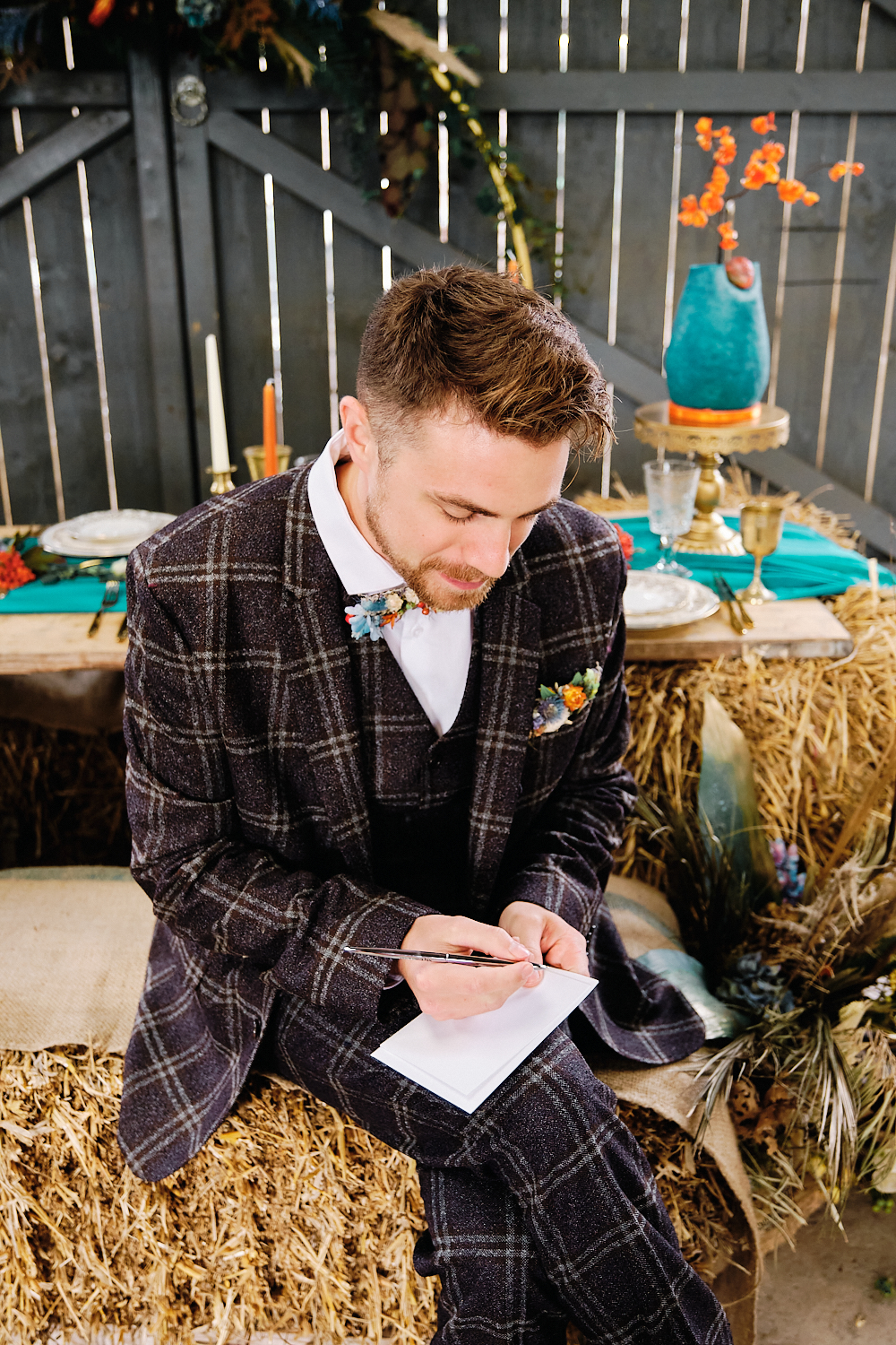 Bright and Bold Wedding With Country Vibes at The Barn at Drovers, Wales