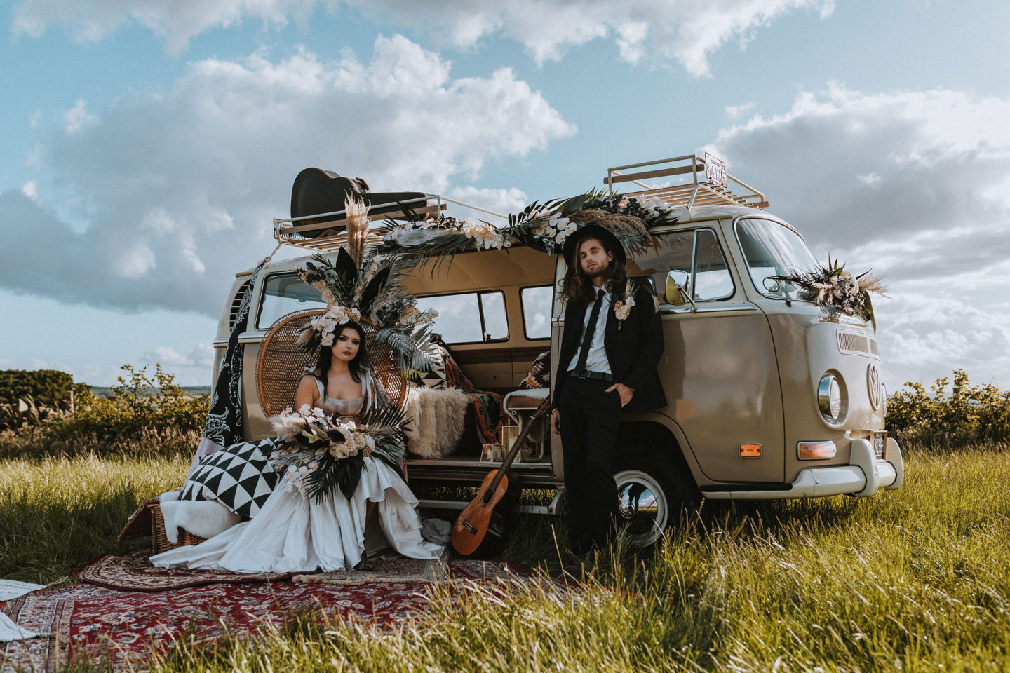 Eclectic California Inspired Wedding at High Lea Farm Yorkshire
