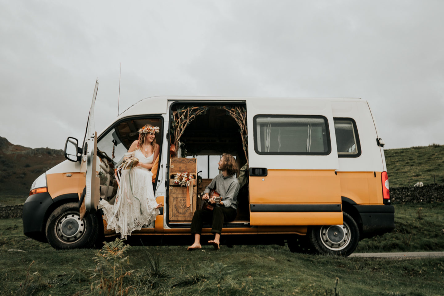Intimate Lake District Wedding With A Vintage Campervan and Folklore Vibe