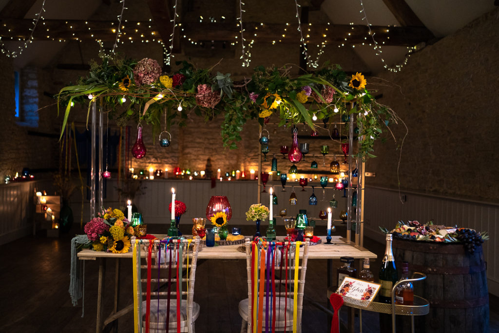 Colour Pop Wedding With Vintage Touches at Wick Farm Bath, Somerset