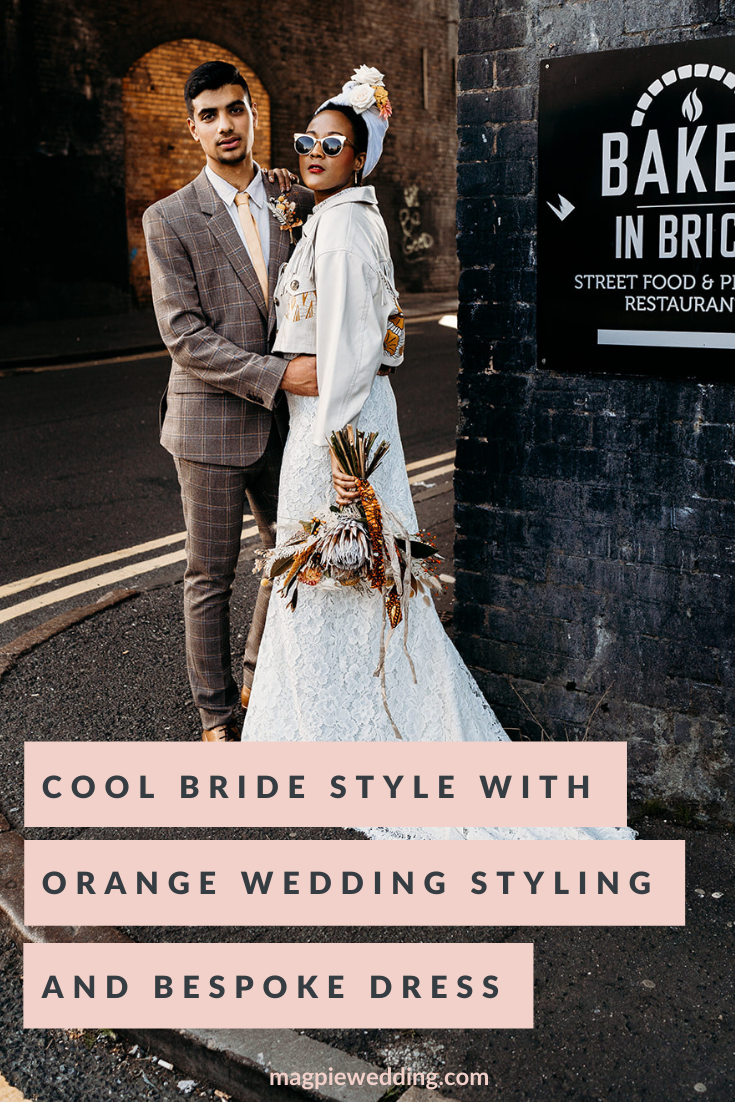 Cool Bride Style With Poppy Perspective Wedding Dress At The Old Library, Birmingham