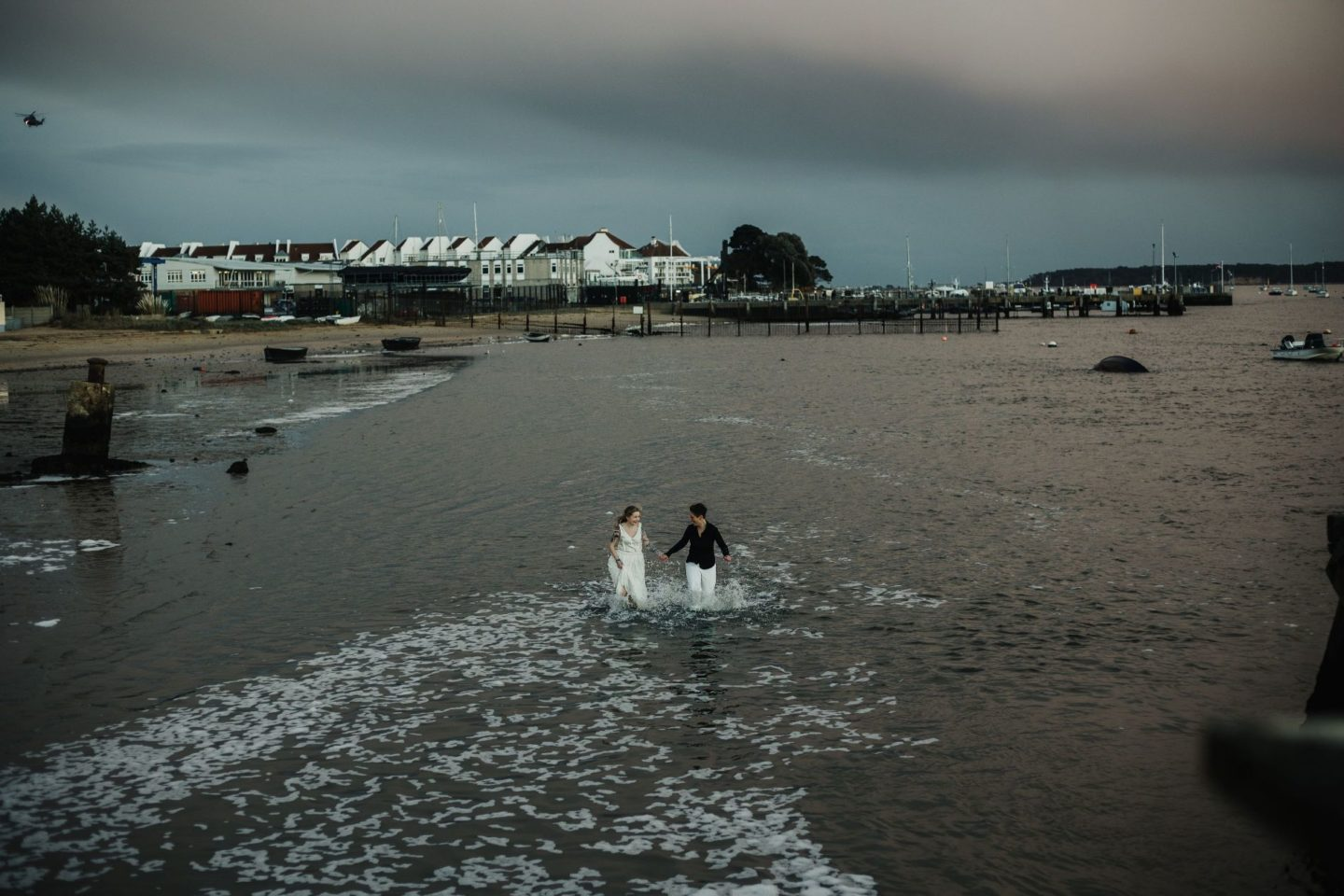 Wild and Free Intimate Elopement At Lake Pier, Dorset