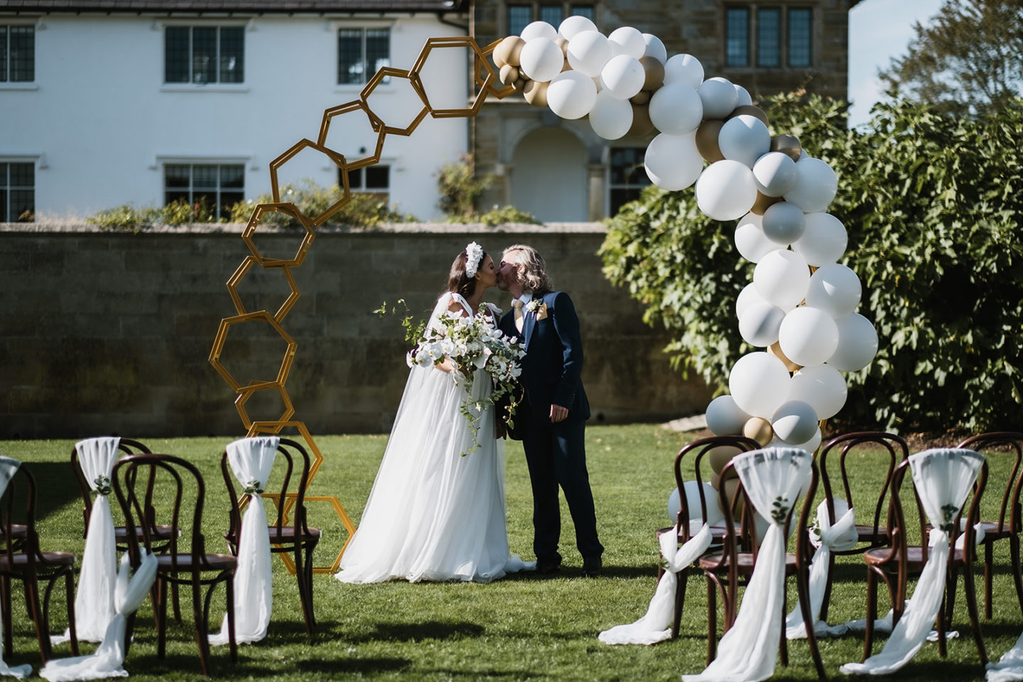 Intimate Wedding With Gold and Green Luxury Styling At Hendall Manor Barns, Sussex