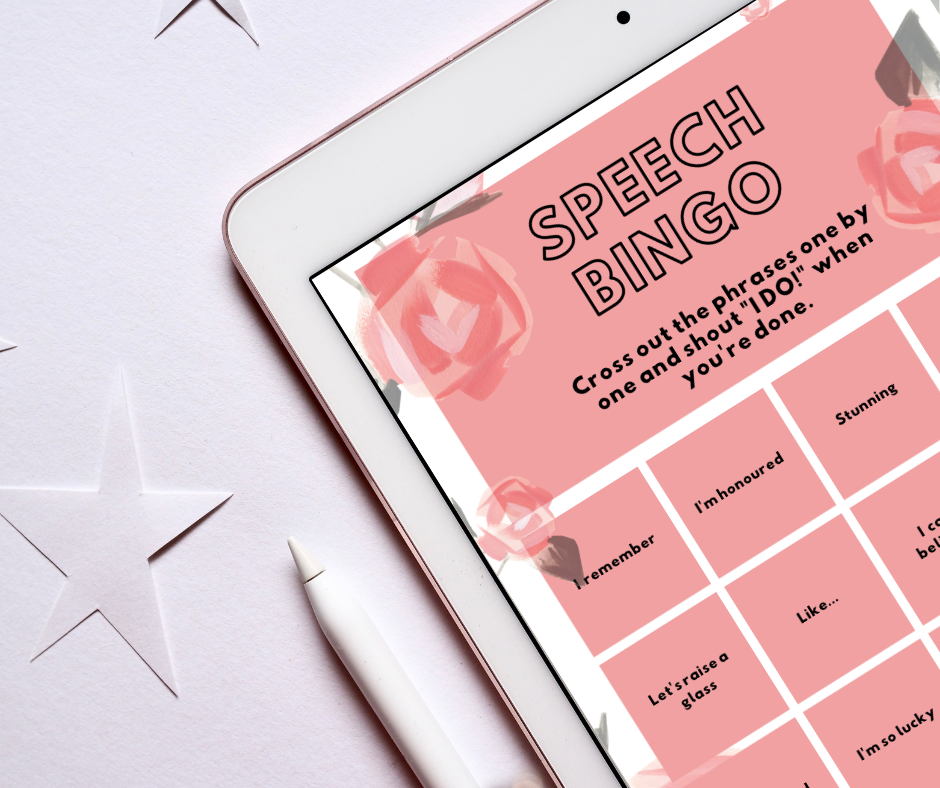 New FREE Wedding Printables: Speech Bingo, Drink Tokens & Song Request Cards