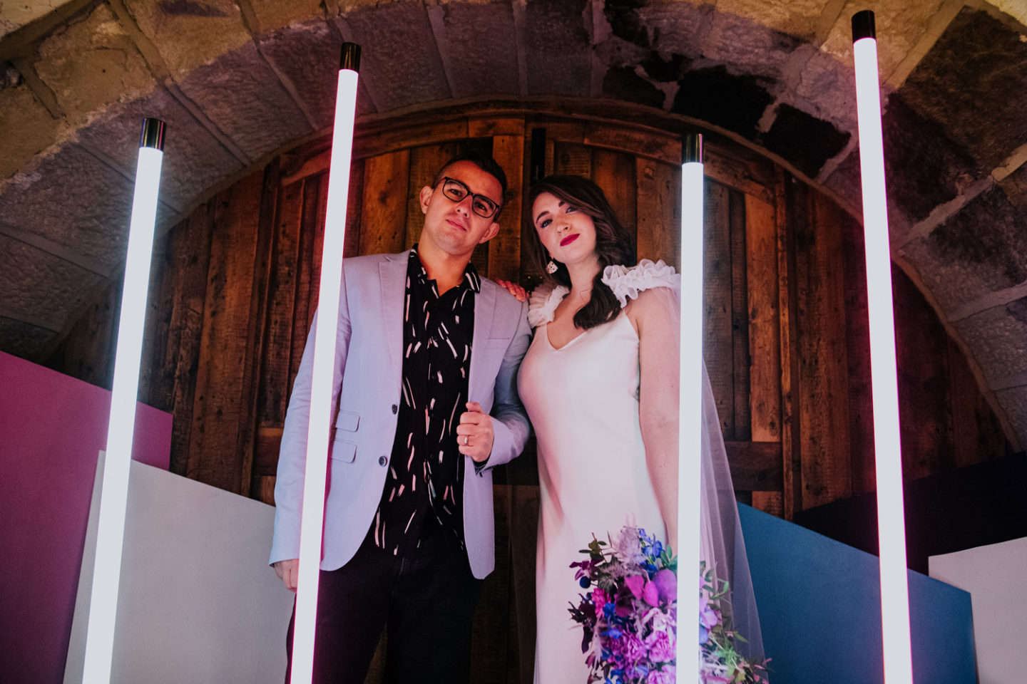 Modern Neon 1980s Inspired Wedding At Ponden Mill, Yorkshire