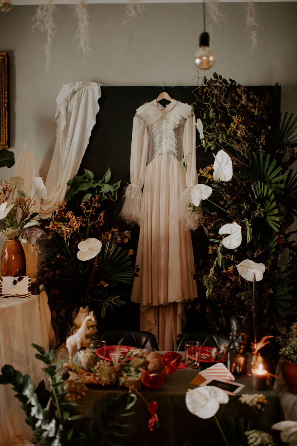 Eclectic Wedding Inspiration With Bespoke Wedding Dress and African Jungle Vibes
