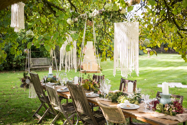 Manor House Wedding With Macrame Styling At The Old Rectory, Gloucestershire