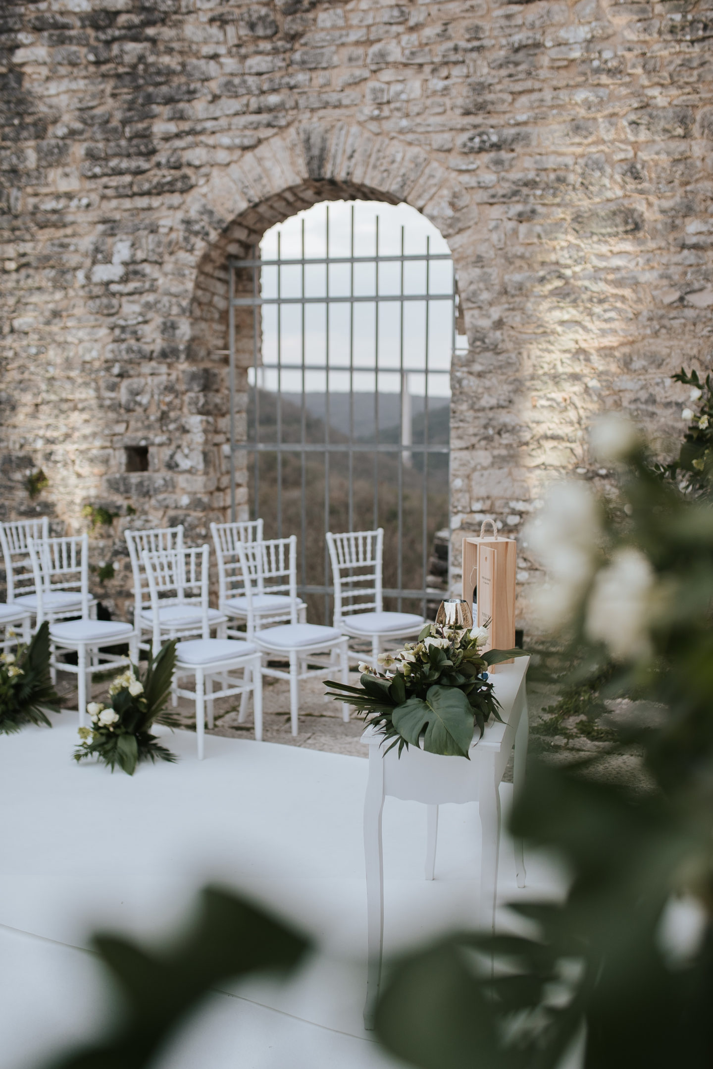 Botanical Castle Wedding with Contemporary Vibes at Dvigrad Ruins, Croatia